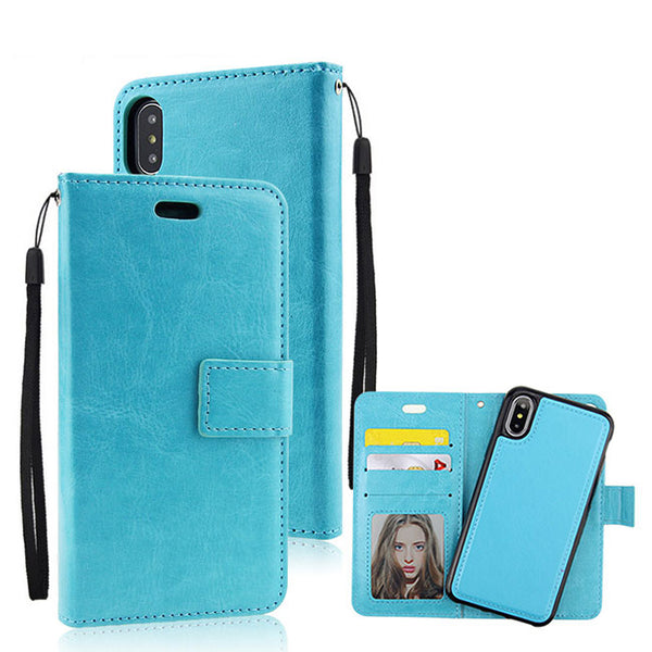 Leisure Iphonex Crazy Horse Pattern Multi-function Flip Wallet Mobile Phone Leather Case