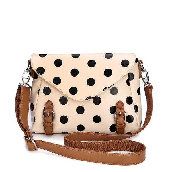 Retro Cute Dot Messenger Bag shoulder bag - lilyby
