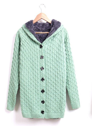 Cheap Pretty Nice Plus Velvet  Hooded Sweater &Cardigan - lilyby