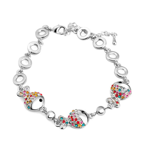 Jewelry Colorful Crystal Fish Bracelet - lilyby