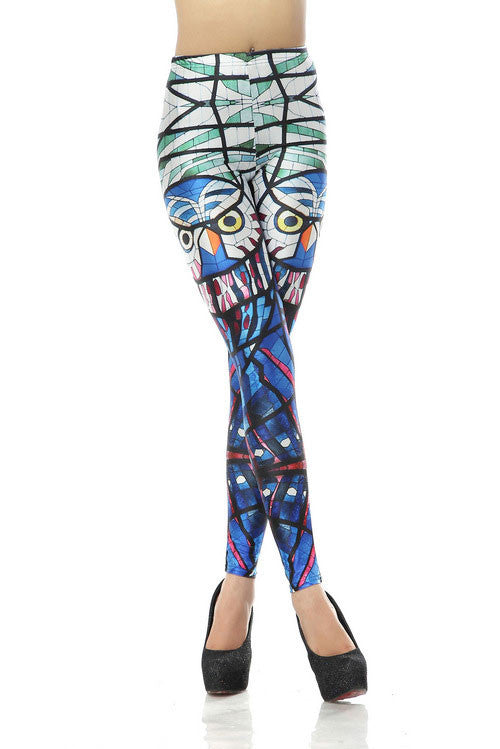 New Glass Parrot Printed Leggings - lilyby