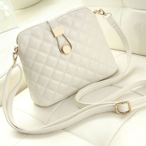Fresh Shell Shoulder Bag Quilted Messenger Bag - lilyby