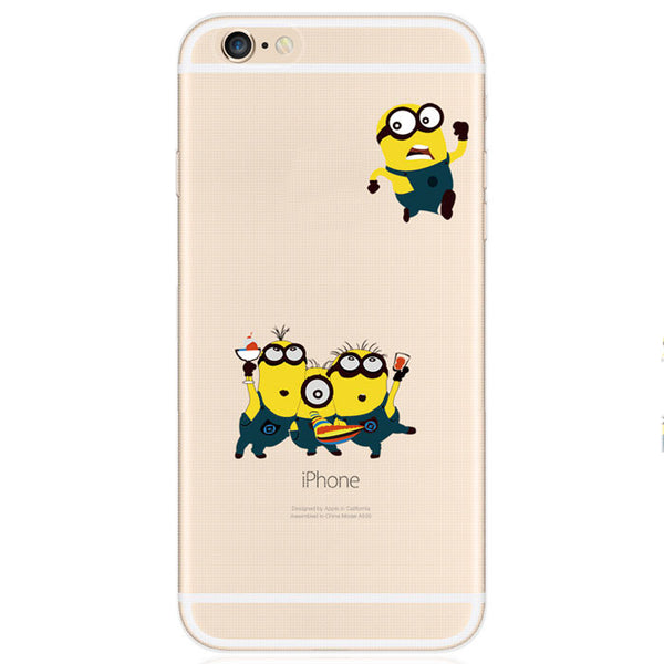 Minions Transparent Thin Soft Silica Gel Iphone Cases For 5/5S/6/6Plus - lilyby