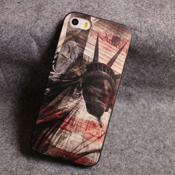 Statue of Liberty Zero Star Relief Silicone Soft Iphone Cases For 5/5S