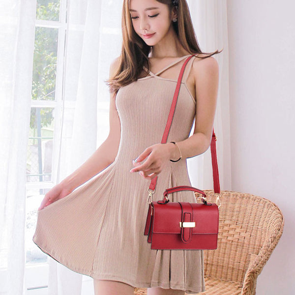 Elegant Ladies H Button Shoulder Bag