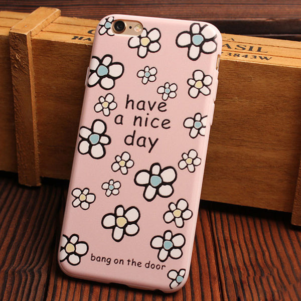 Happy Flower Relief Silicone Soft Iphone Cases For 6/6Plus - lilyby
