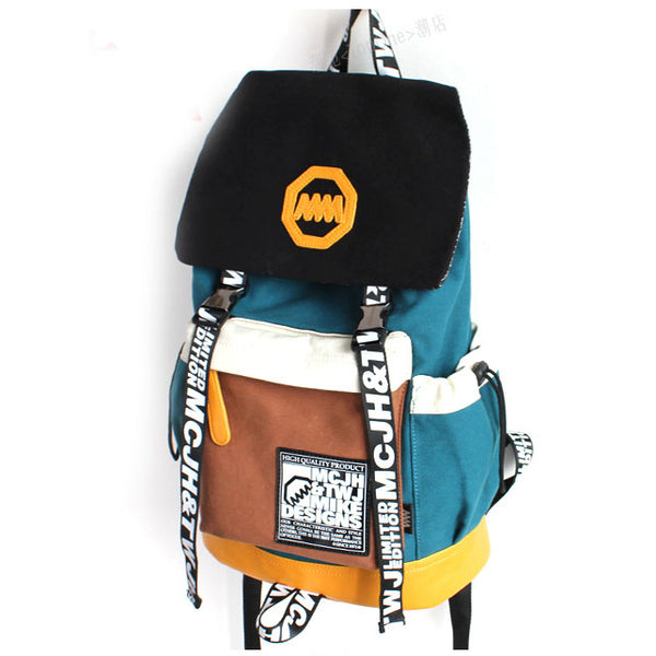 Unique New Trunk Travel Letters Canvas Backpacks