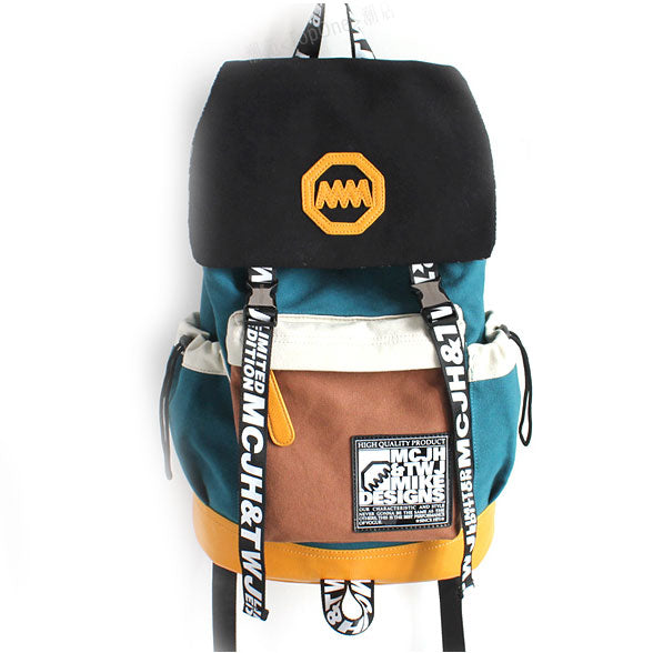 Unique New Trunk Travel Letters Canvas Student Backpacks
