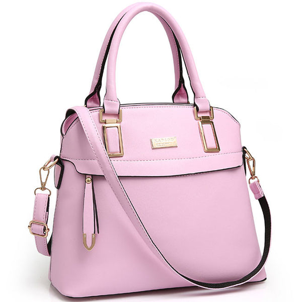 Fashion PU Shell Shape Leisure Shoulder Bag  Zipper Colorful Women Handbag