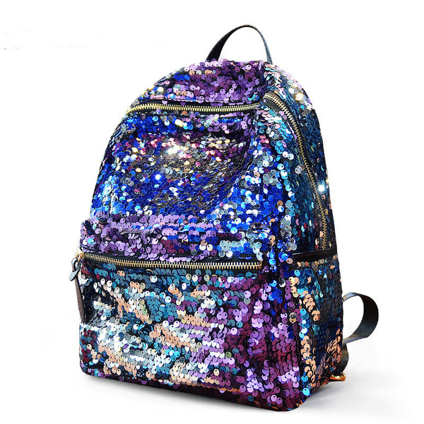 Fashion Shining Sequin Stars Backpack&School Bag-purple - lilyby