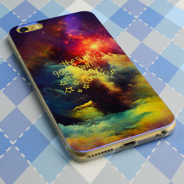 Mystic Night Star Cloud Silica Gel Thin Soft Case For Iphone 5/5S/6/6Plus - lilyby
