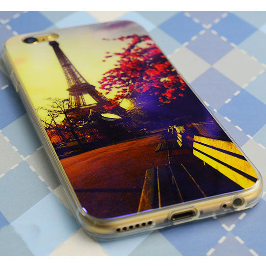 Laser Blue-Light Sky Lovers Transparent Soft Case For Iphone 5/5S/6/6Plus - lilyby