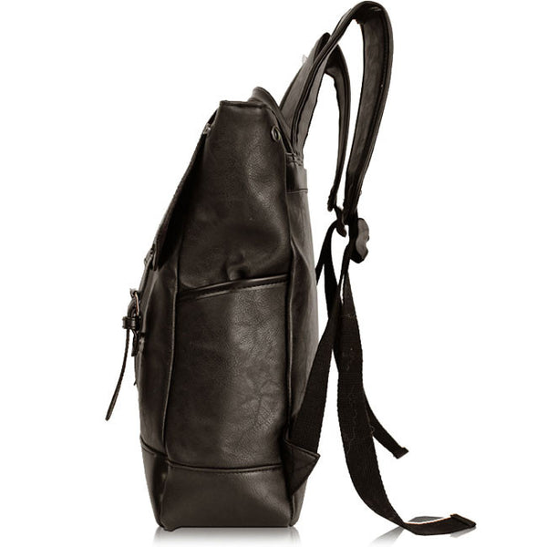 British Women Rucksack Solid Leather Casual College Student Backpack