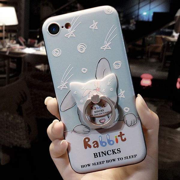 Sweet Rabbit Shooting Stars Iphone 6/6s/6 plus/6s plus/7/7 plus Iphone Cases