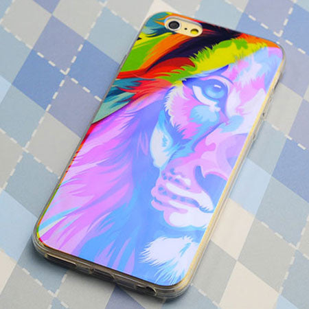 Colorful Monster Lion Silica Gel Thin Soft Case For Iphone 5/5S/6/6Plus - lilyby