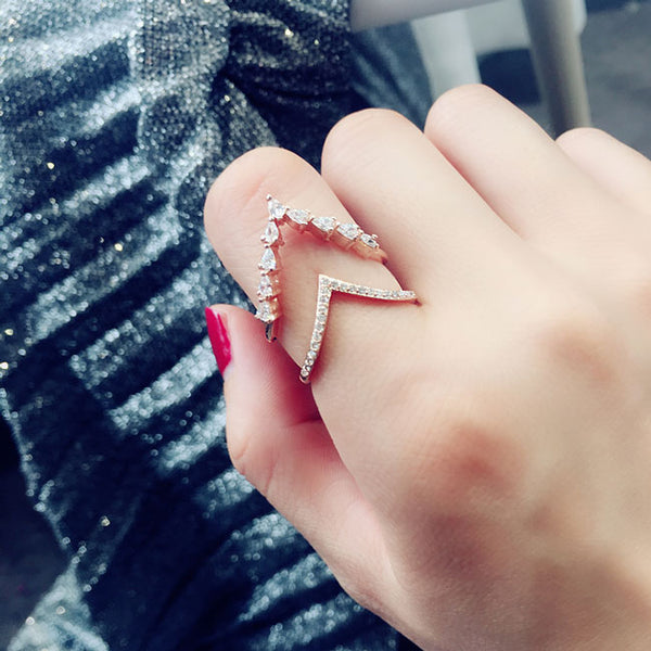 Fashion Exaggeration Full Diamond Adjustable Open Ring