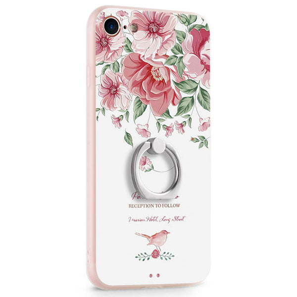 Cute Animals Rabbit Cat Pig Fresh Flowers Iphone 7/7 plus/8/8 plus Cartoon IPhone Case