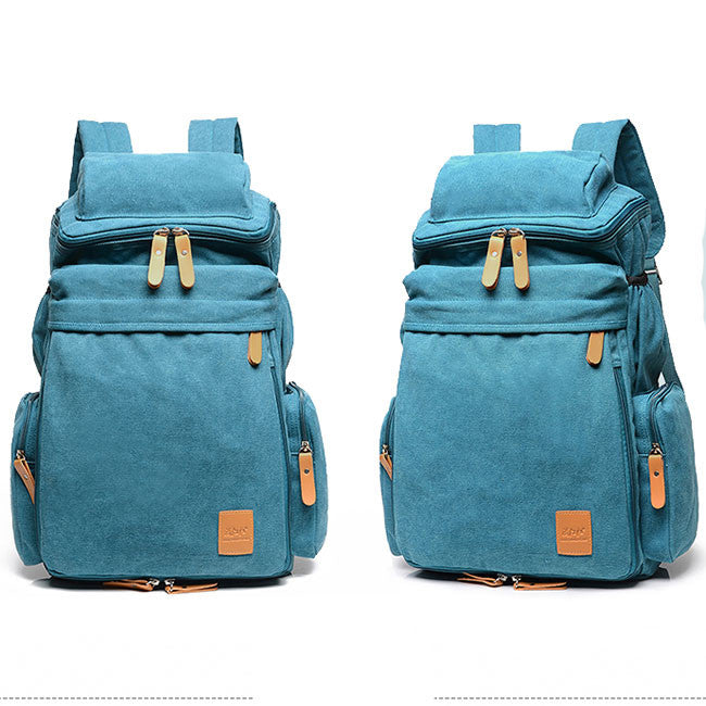 Washing The Washer In Backpack ~ Retro washing color canvas extensible large capacity