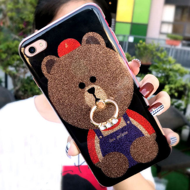 Cute Shining Bear Glossy Iphone 6/6s/6 plus/6s plus/7/7 plus/8/8 plus Iphone Cover Animal Iphone Cases