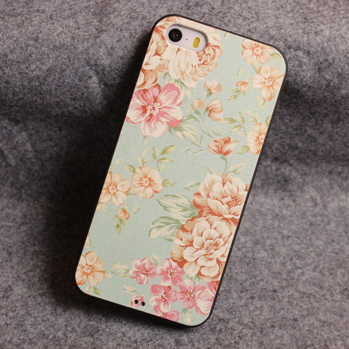 Fresh Flower Relief Silicone Soft Iphone Cases For 5/5S - lilyby