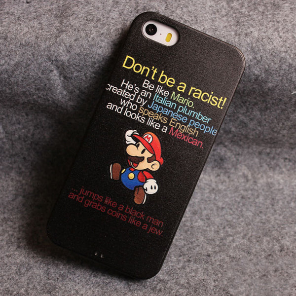 Cute Mario Relief Silicone Soft Iphone Cases For 5/5S - lilyby