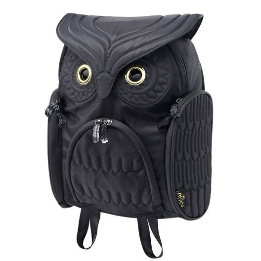 Unique Cool Owl Shape Solid Computer Backpack School Bag Travel Bag