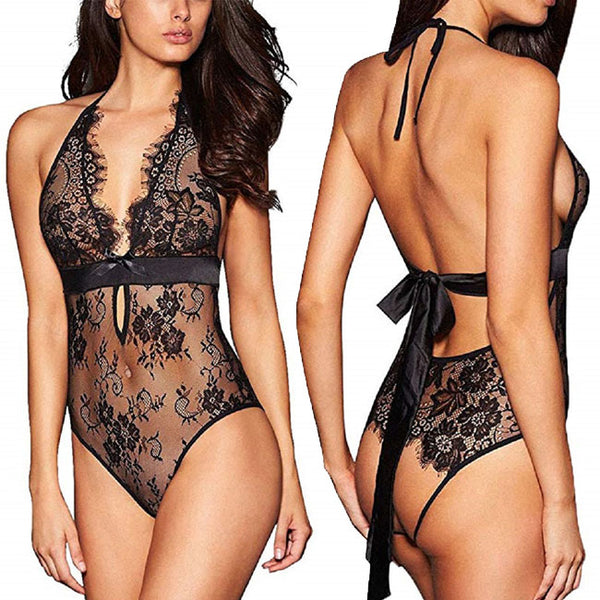 Sexy Conjoined Underwear Intimate Flower Lace Sling Women Lingerie
