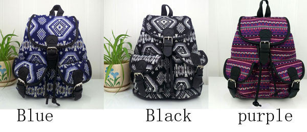 Fashion Geometry Gradient Folk Style Printed Leisure Backpack&Schoolbag