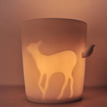Fairy Forest Animal Light Frosted Mug Cup/Candle Cup - lilyby