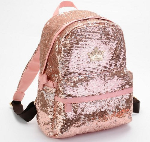 Cool Shine Crown Sequins Backpack - lilyby