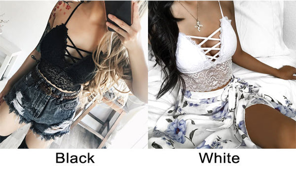 Sexy  Bundling Camisoles Bras Women Lace Straps Wrapped Chest Shaping Intimate Lingerie