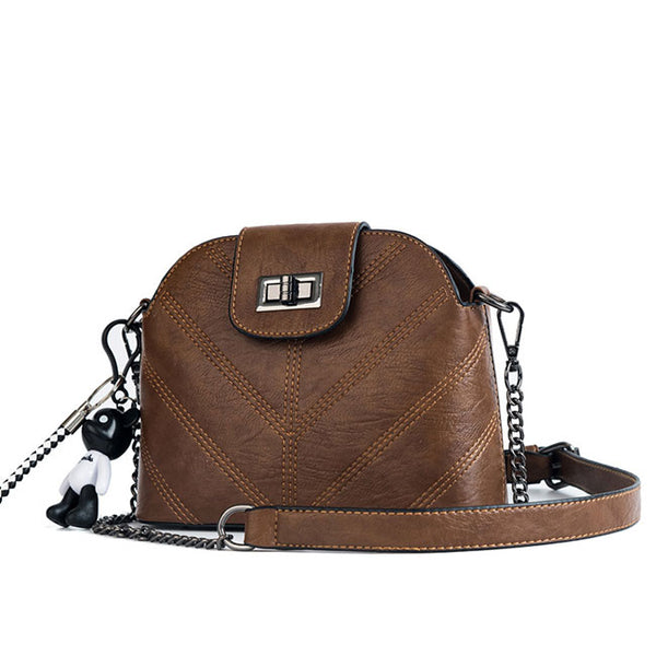 Leisure Lady Small Chain Shoulder INS Style Single Buckle Summer Messenger Bag