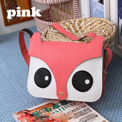 Cute Owl Fox Messenger Handbags - lilyby