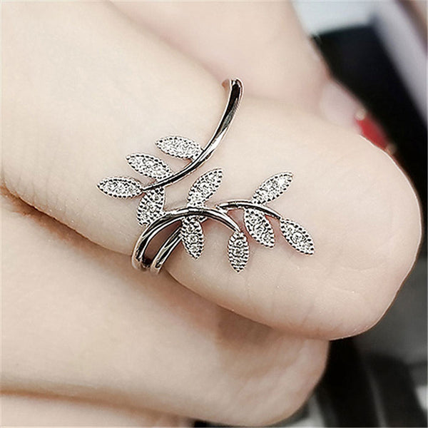 Fashion Leaves Branch Personalized Willow Leaf Women Ring