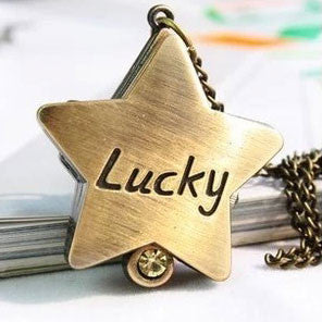Popular Christmas Gift Moon Star Cross Pocket Watch/Pendant/Necklace - lilyby