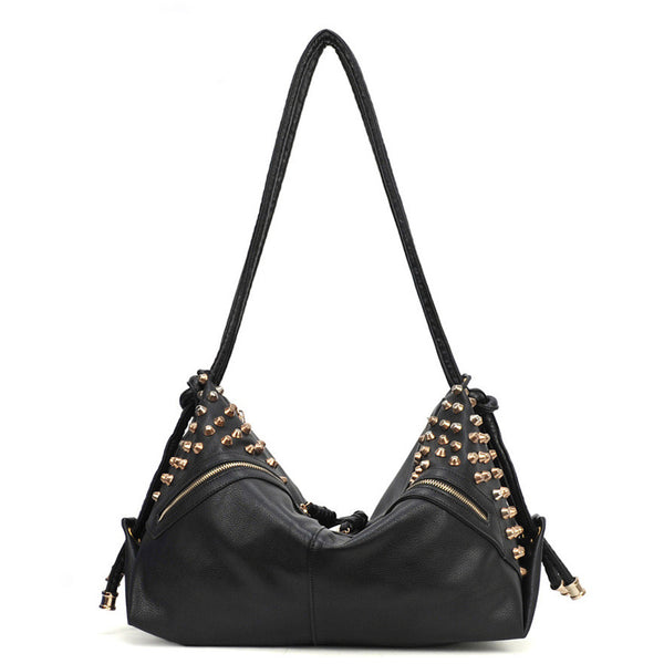 Cheap Fashion Stars Retro Rivet Shoulder Bag - lilyby