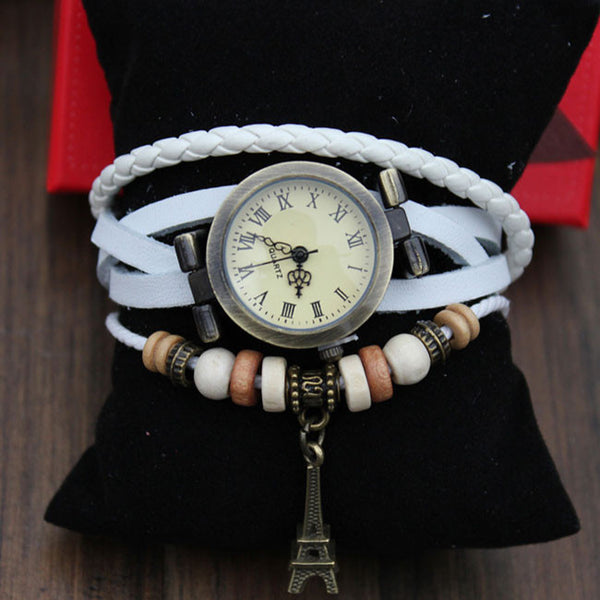 Retro Eiffel Tower Twist Bracelet Watch - lilyby
