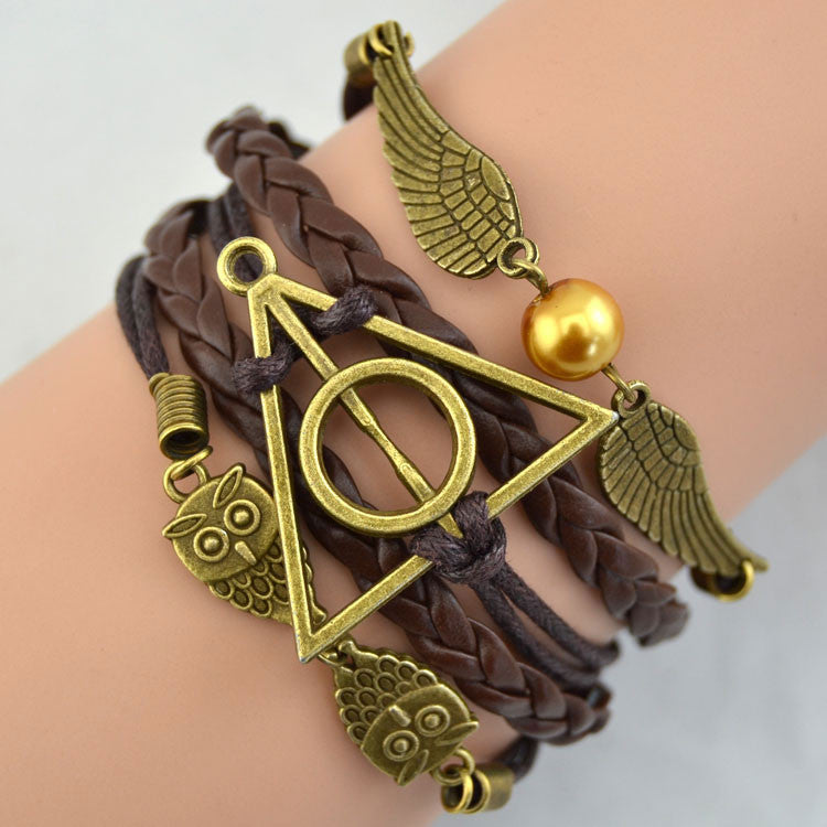 Deathly Hallows Wings Owl  Bracelet - lilyby