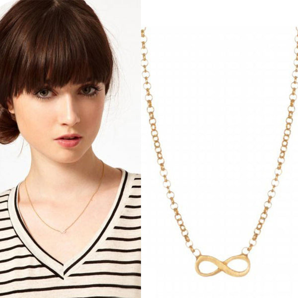 New Infinity Bowknot Sweater Necklace - lilyby