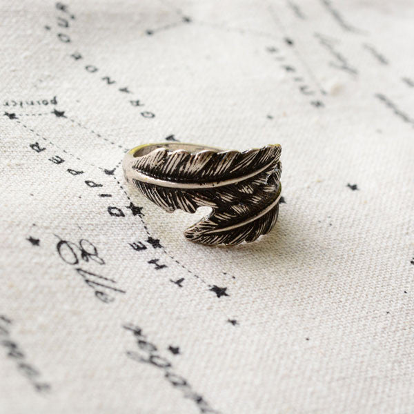 Unique Retro Feather Handmade Ring