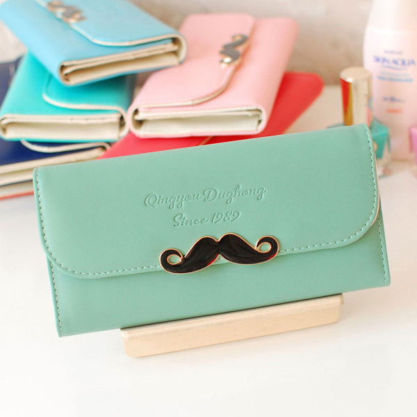 Funny Simple Mustache Clutches & Wallet - lilyby