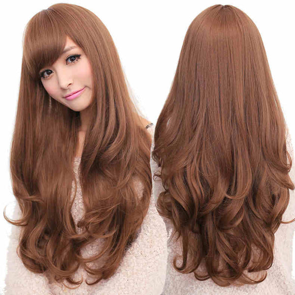 Lady Woman Adorable Long Wavy Wigs 3 Colors Available - lilyby