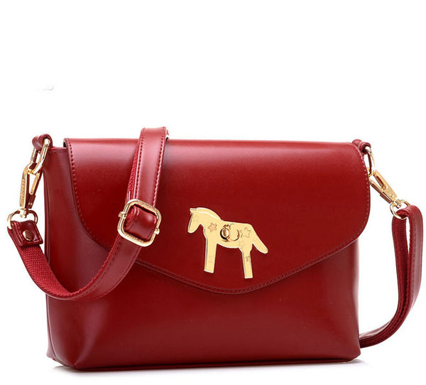 Retro Simple Horse Button Shoulder Bag - lilyby