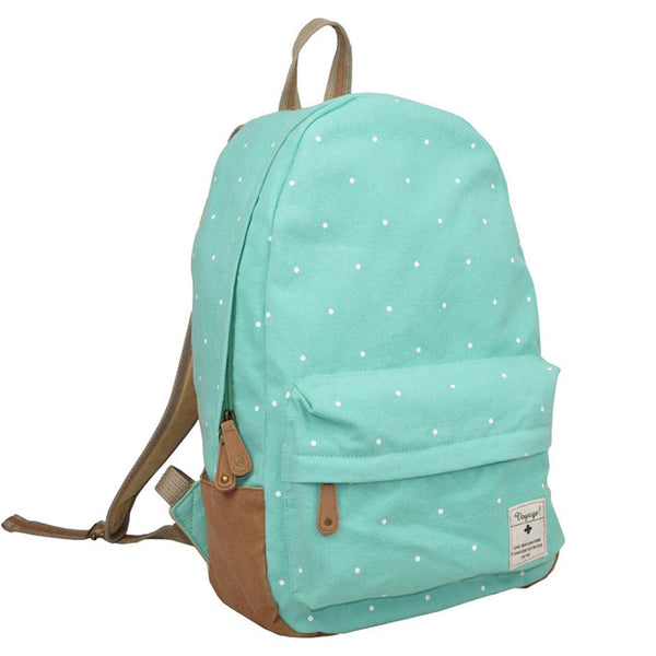 Fresh  Dot Print Canvas School Backpacks - lilyby