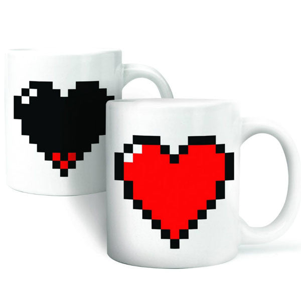 Lover Gift Pixel Heart Print Color Changing Cup - lilyby