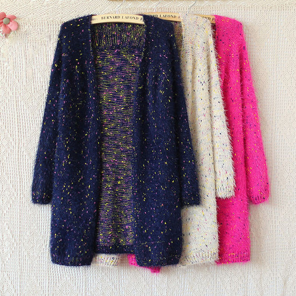 Leisure Graceful Mohair Dot Winter Sweaters - lilyby