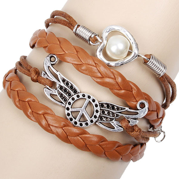 Peace Wings Love Pearl Bracelets - lilyby