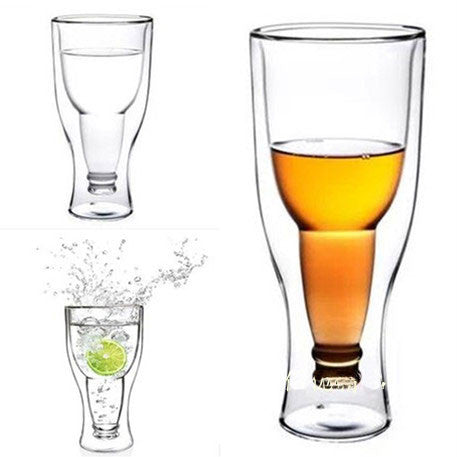 Originality Hand-flown Flip Bottle Double Glass Cup - lilyby