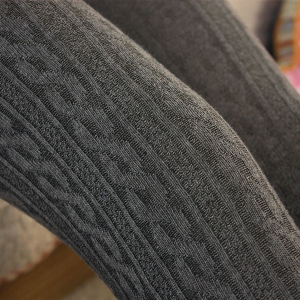 Vertical Stripes Twist Wool Leggings