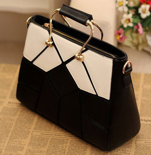 Classic Black And White Fashion Style Handbags - lilyby